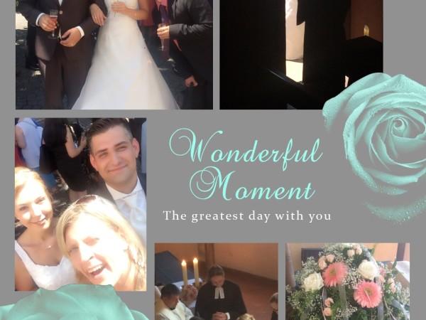 Hochzeitssängerin in der Kirche
